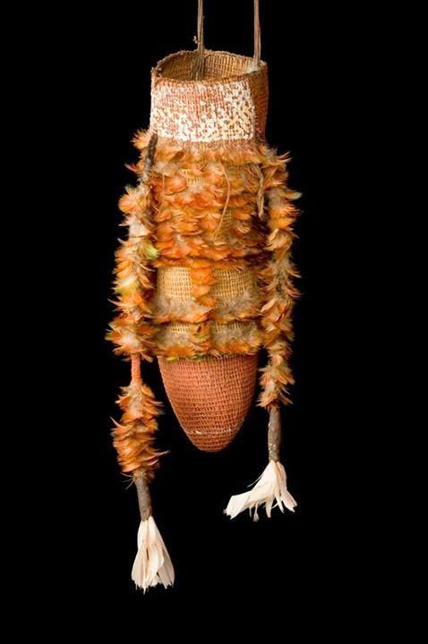 "Australian Aboriginal. Man's ceremonial fighting basket (""minjarpi""). Northern Territory, Arnhem Land, Elcho Island (a centre for great jewelry!); early 20th c."