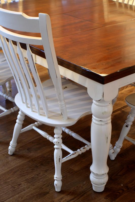Do It Yourself Divas Diy Kitchen Table Makeover: Dining Table Redo- I'd Do A Little Darker Table Top To