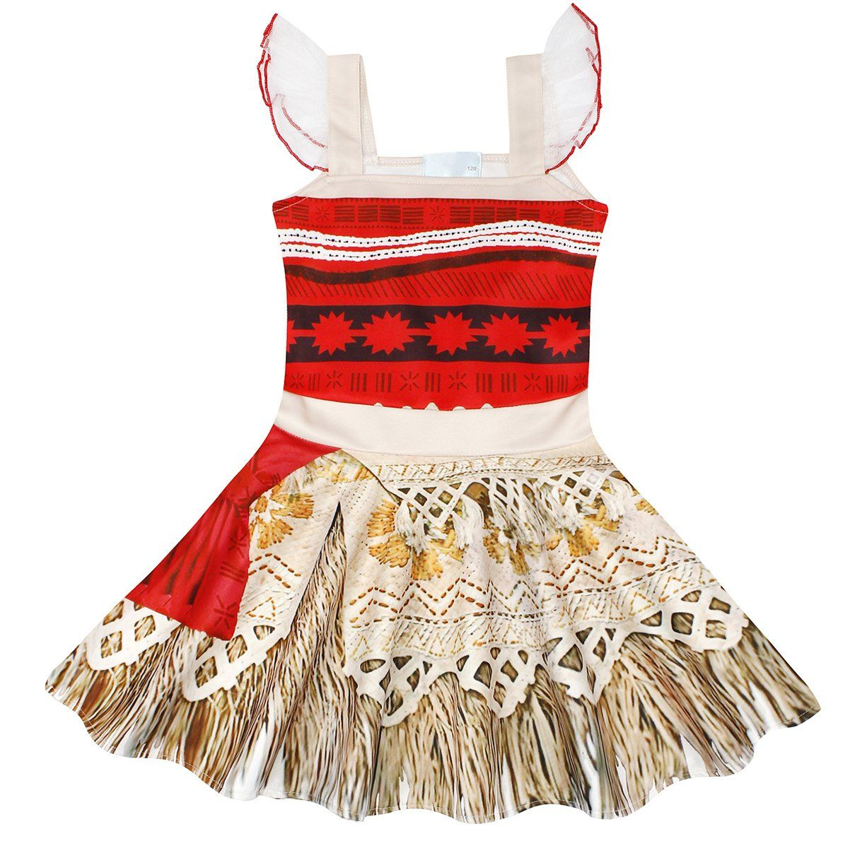 AmzBarley Moana Dress for Girls Halloween Costumes Cosplay