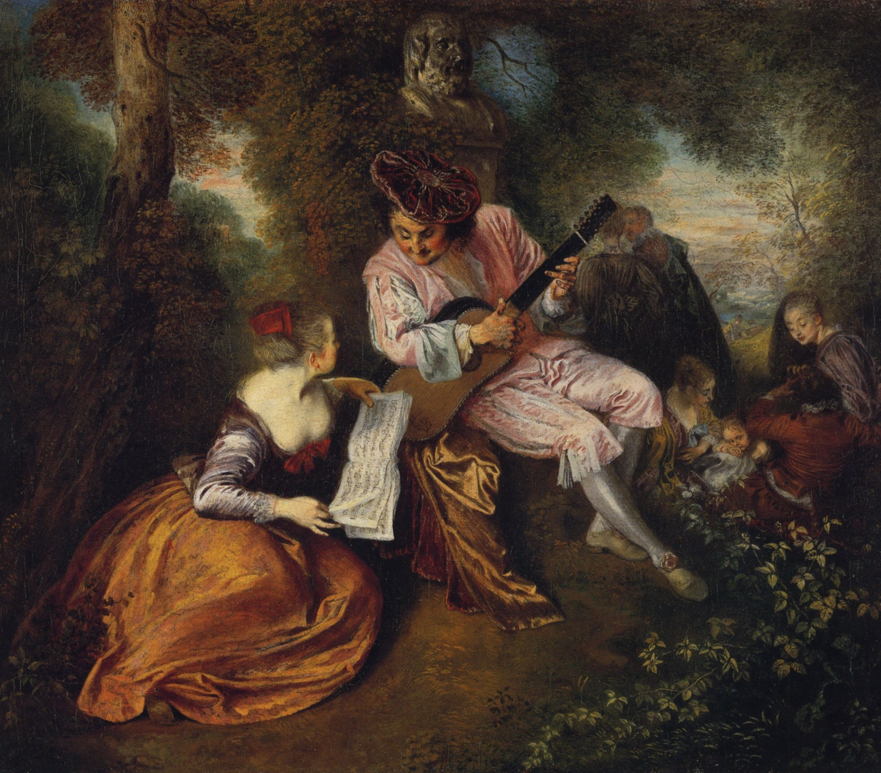 Jean-Honore Fragonard - The Scale of Love   Most famous paintings, Rococo art, Art