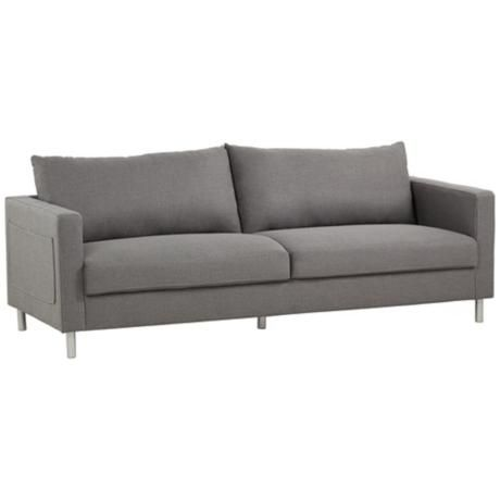 Hailey Gray 3 Seater Sofa Grey 3 Seater Sofa 3 Seater Sofa