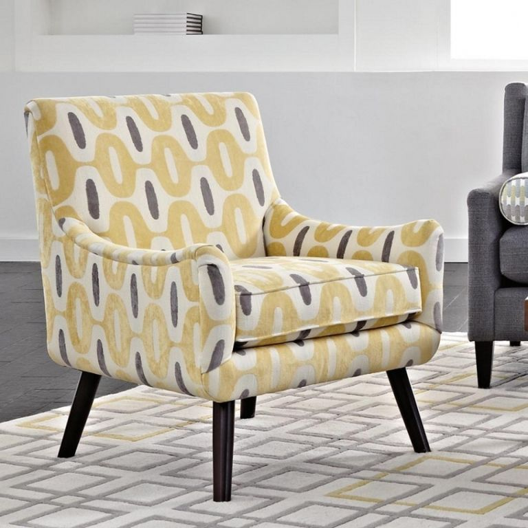 Trend Yellow And Grey Accent Chair Decoration