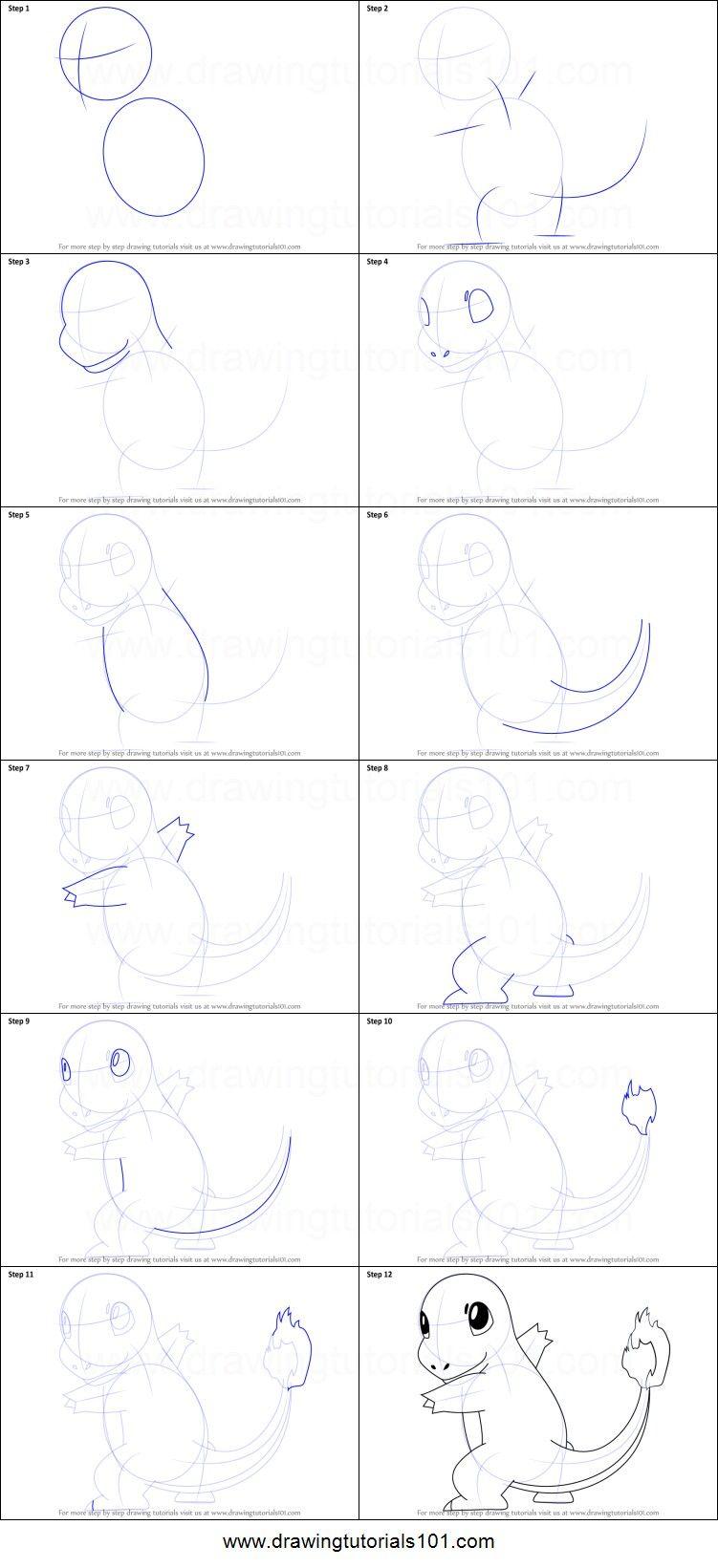 How To Draw Charmander Pokemon Charmander Draw Drawing Tutorial Drawing Tutorial Easy Easy Drawings
