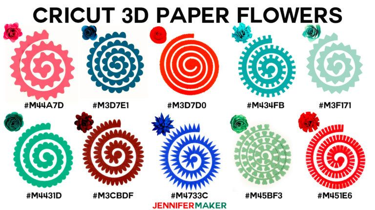How To Make Cricut Paper Flowers All 10 Paper Flower Patterns