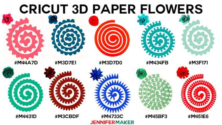 How To Make Cricut Paper Flowers All 10 Cricut Wishlist Paper