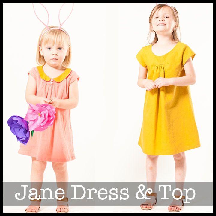 Jane Top & Dress | Pinterest | Kinder nähen, Runde und Nähen