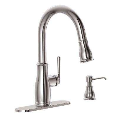 Glacier Bay Kagan Single Handle Pull Down Sprayer Kitchen Faucet