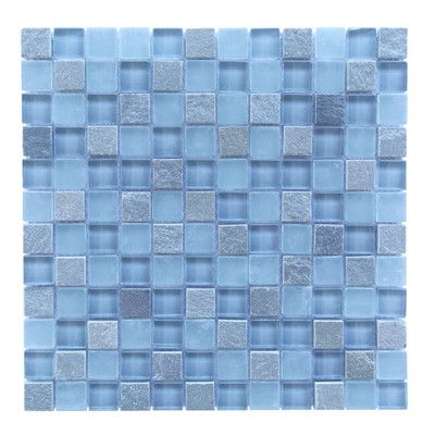 Abolos Mineral 1 X 1 Glass And Slate Mosaic Tile In Blue Gray Reviews Wayfair Stone Mosaic Tile Mosaic Bathroom Tile Mosaic Tiles