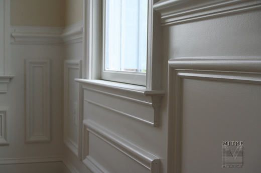 Wainscoting Around Windows Ideas Lr Dr Shadowbox Wainscot