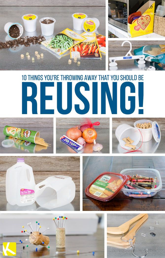 10 Items You're Throwing Away That You Should Be Reusing ...