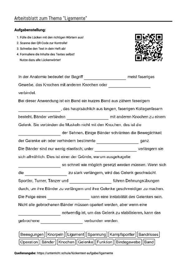 Contemporary Bindegewebe Arbeitsblatt Image Collection ...