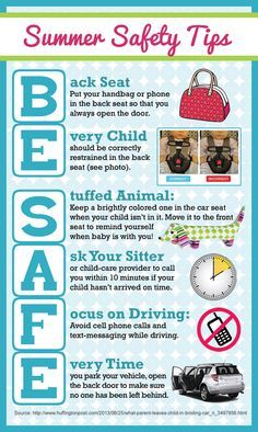 tiptuesday be safe this summer safety tips car