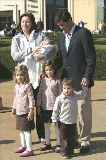 Princess Alexia with her family.