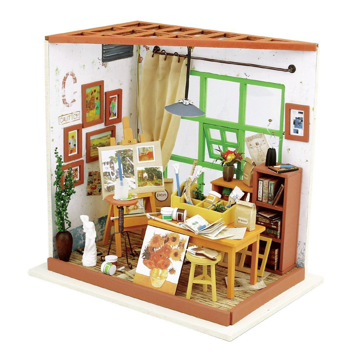 how to build miniature furniture. AmazonSmile: Robotime 3D Dreamy Dollhouse Puzzle DIY Miniature Furniture Kits Great Crafting Project For Boys How To Build