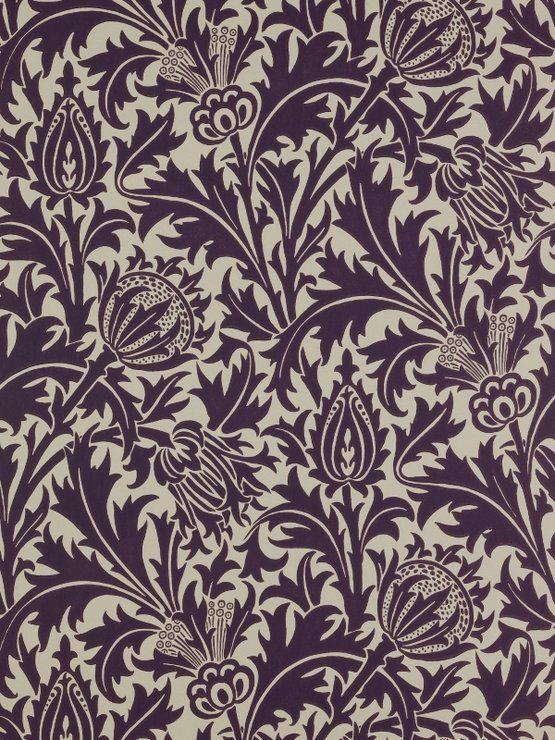Style File Arts Crafts William Morris Wallpaper Morris Wallpapers Thistle Wallpaper