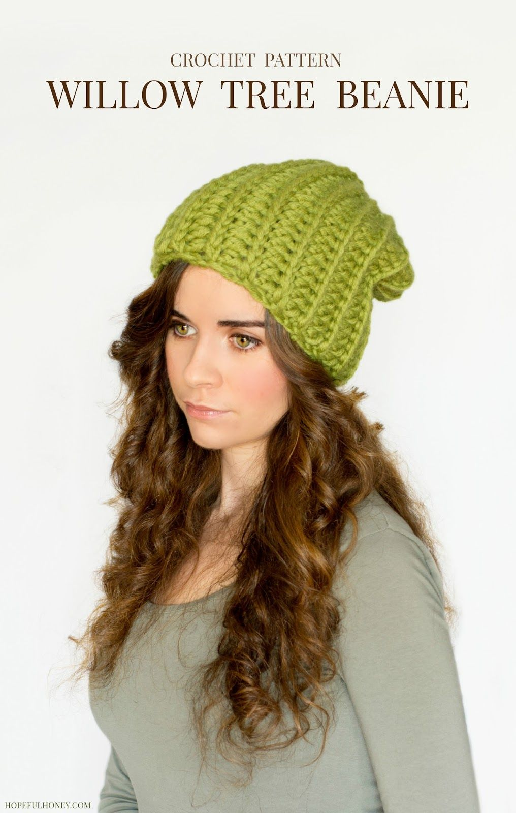 Chunky Willow Tree Slouchy Beanie Crochet Pattern | Gorros ...