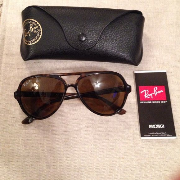 52929c7cb6 ... hut 01587 c7b95 clearance ray ban cat 5000 sunglasses tortoise frame  with light brown gradient lens. no scratches ...