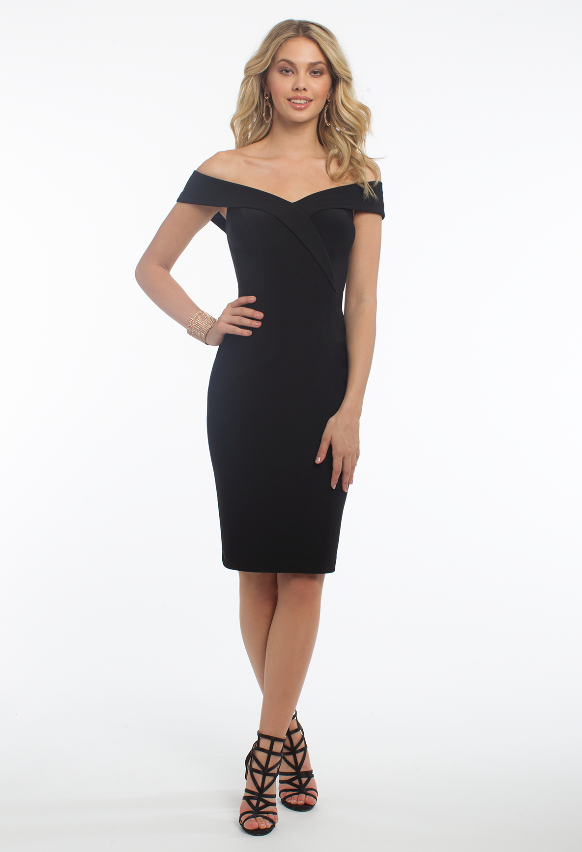 Get Old Hollywood Glam Vibes The Moment You Slip On This Stunning Cocktail Dress With Its Portrait Neckline Fitted Bodi Dresses Party Dress Hot Party Dresses [ 1732 x 1184 Pixel ]