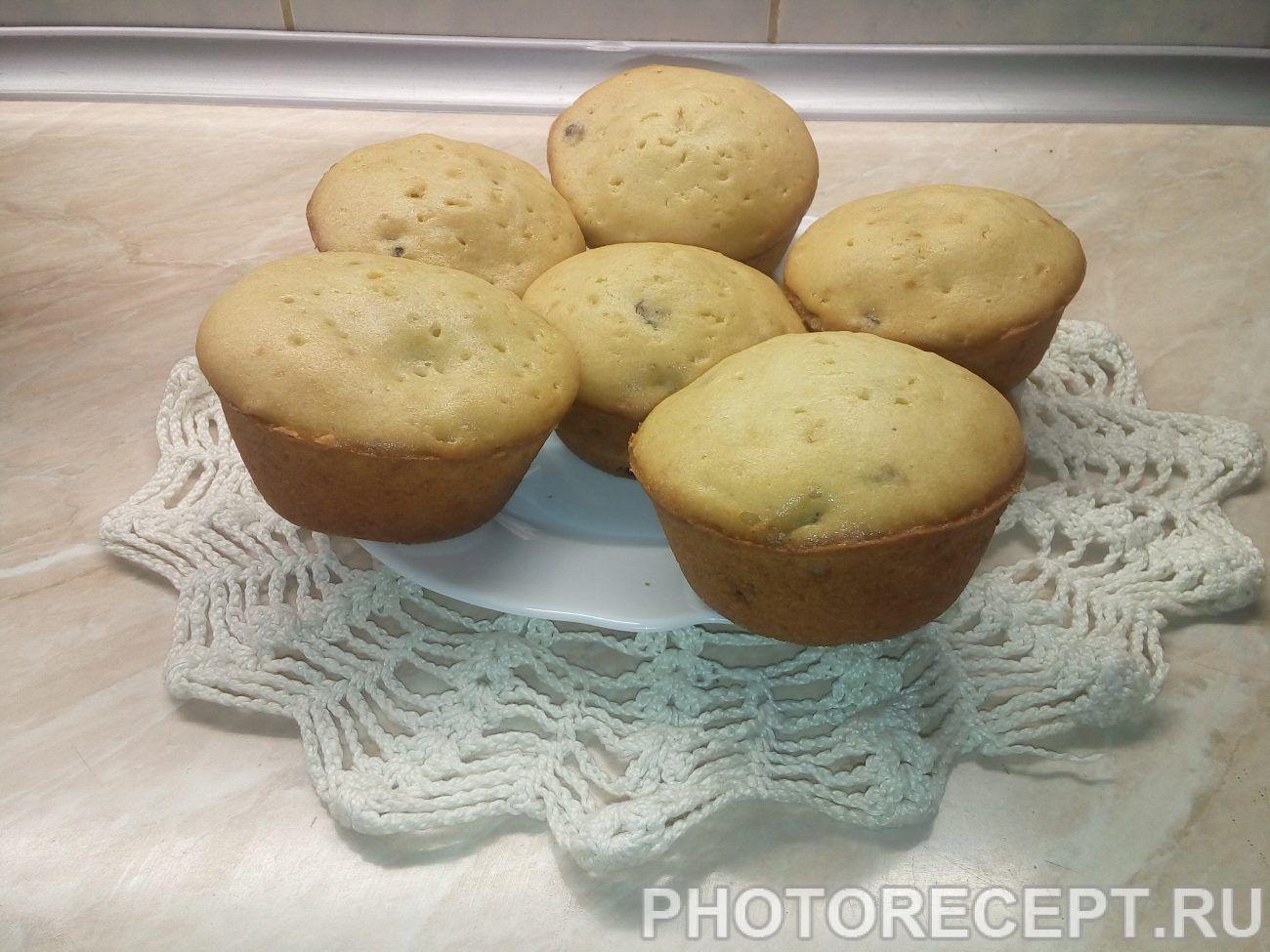 Домашние кексы с изюмом на кефире