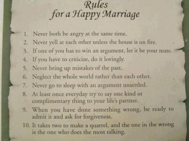Marriage Rules Marriage Quotes Funny Happy Marriage Marriage Quotes