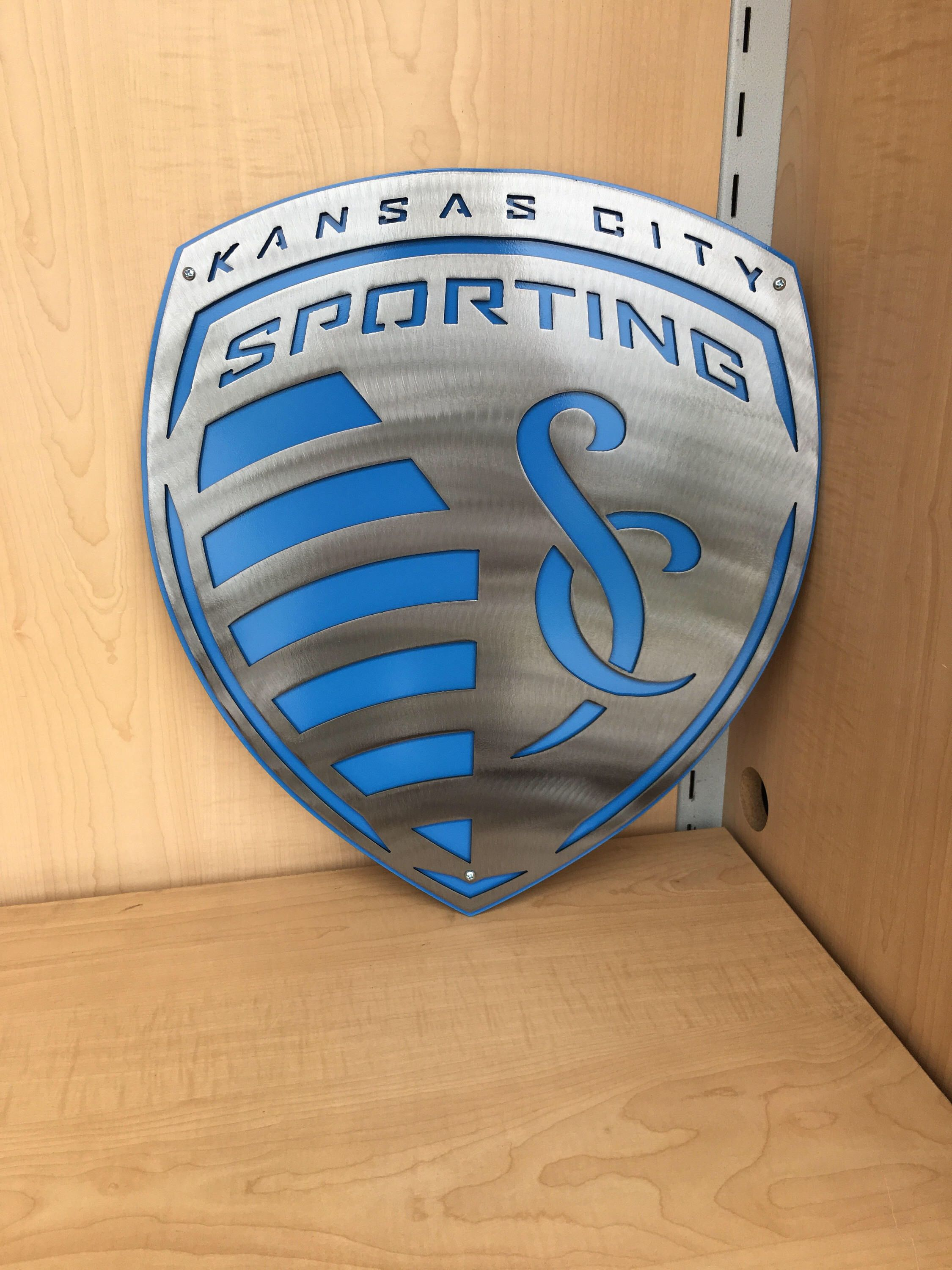 Sporting KC Dual Metal Wall Art Large Size Home Decor - Sporting kc wall decals