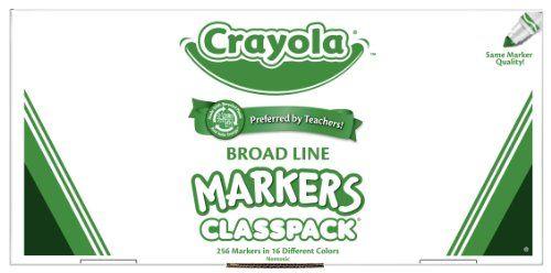 Crayola 256ct Classpack 16 colors Broad Line Markers  http://www.bestdealstoys.com/crayola-256ct-classpack-16-colors-broad-line-markers-3/