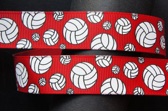 10yd Volleyball 7 8 Red Grosgrain Ribbon By Doreme1212 On Etsy 5 50 Grosgrain Ribbon Volleyball Ribbon Grosgrain