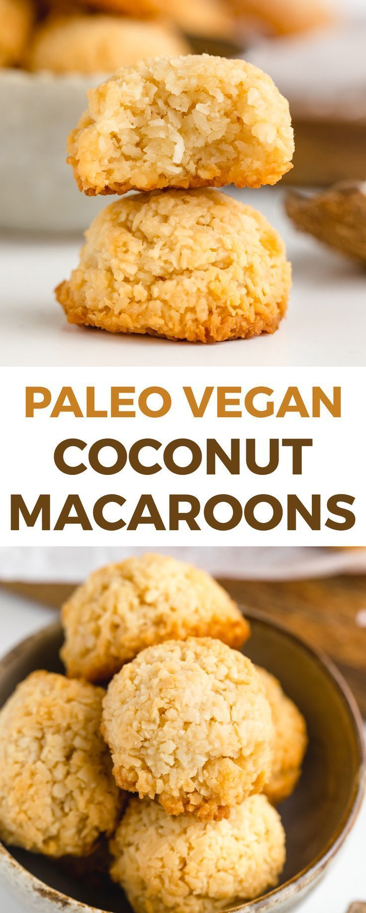 Paleo coconut macaroons that are chewy on the inside and crisp on the outside! They taste like regular macaroons but are vegan and maple-sweetened. coconut macaroons that are chewy on the inside and crisp on the outside! They taste like regular macaroons but are vegan and maple-sweetened.