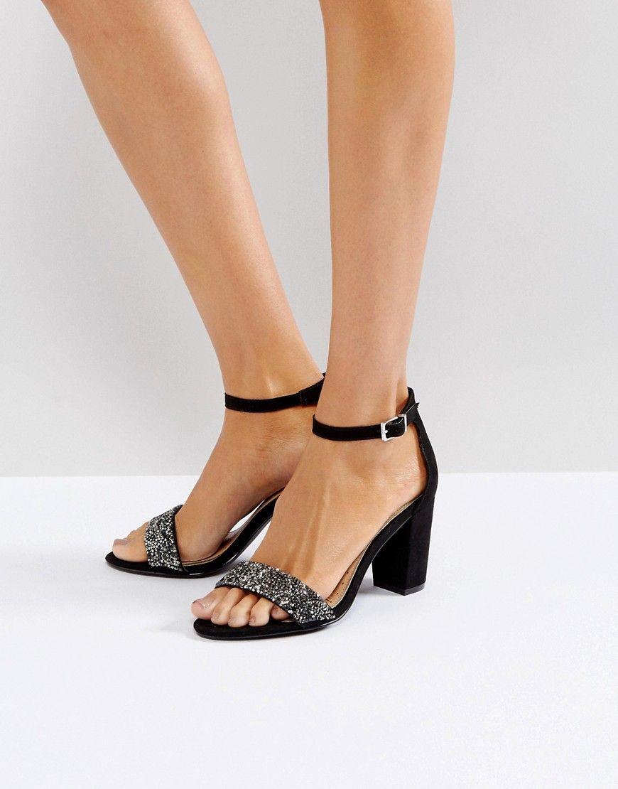 Kurt Geiger Nude Heel Shoes Peep Toe Ankle Strap Miss KG