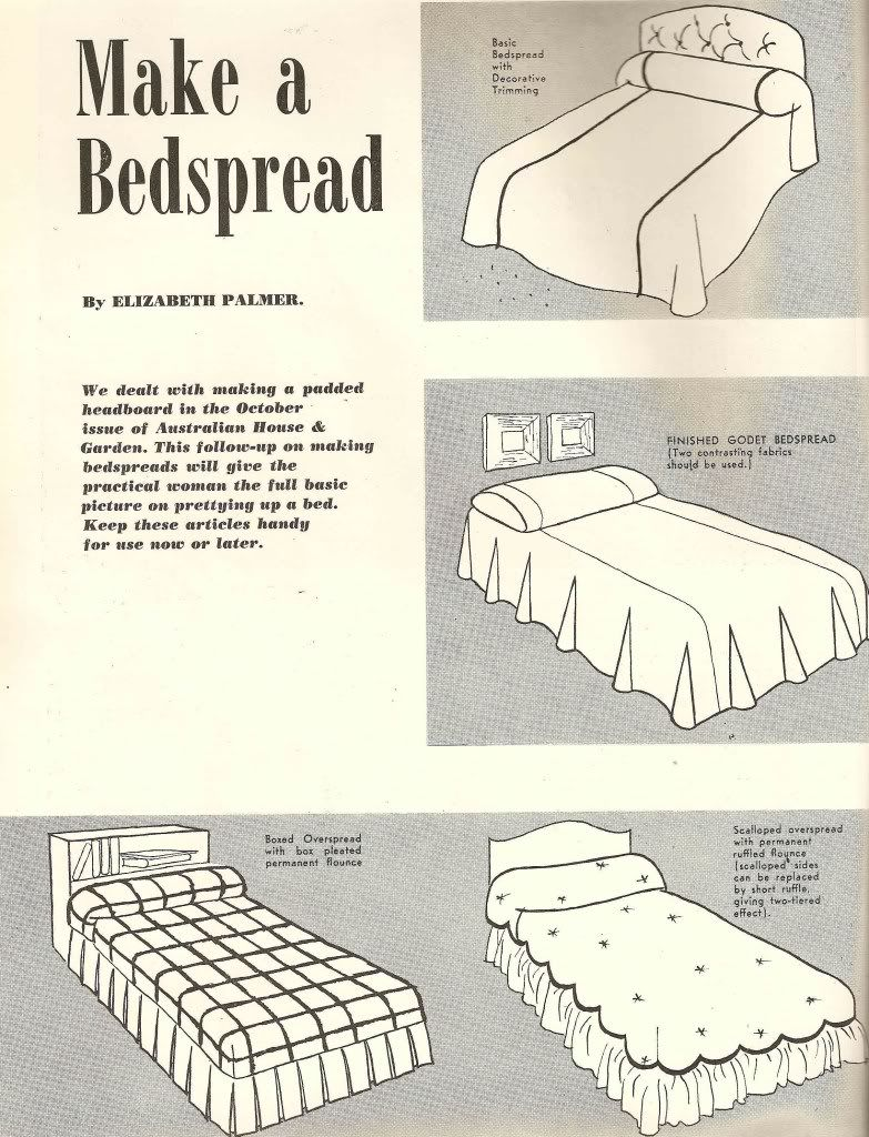 Totally Retro 1953 Bedspread Tutorial Sewing Into