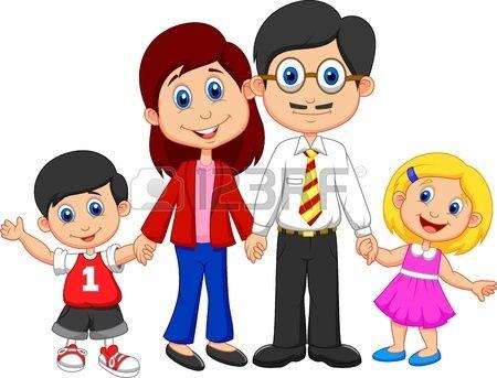20897427 De Dibujos Animados Feliz De La Familia Jpg 450 343 Cizgi Film Resmi Aile Fotograflari Ailem