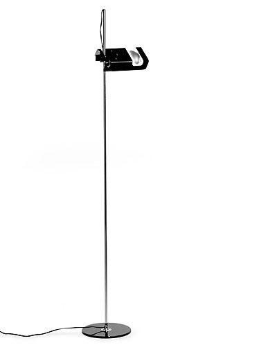 Joe Colombo: Oluce Spider 3319 Floor Lamp, Black