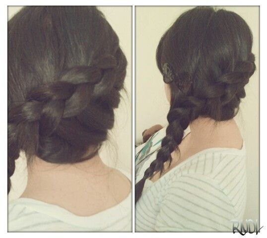 Side Dutch Braid: Start from the ear. If you know how to french braid it's basically that but instead of over, it's under. For those who don't. Start with doing regular braid but make the right & left go under. Then add hair to put sides and continue to braid under.