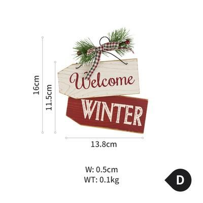 Cute and Small Christmas Wood Decoration – D