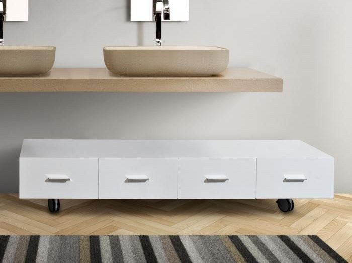 Exceptional Low Bathroom Cabinet With Drawers With Casters MARIPOSA 29 By LASA .
