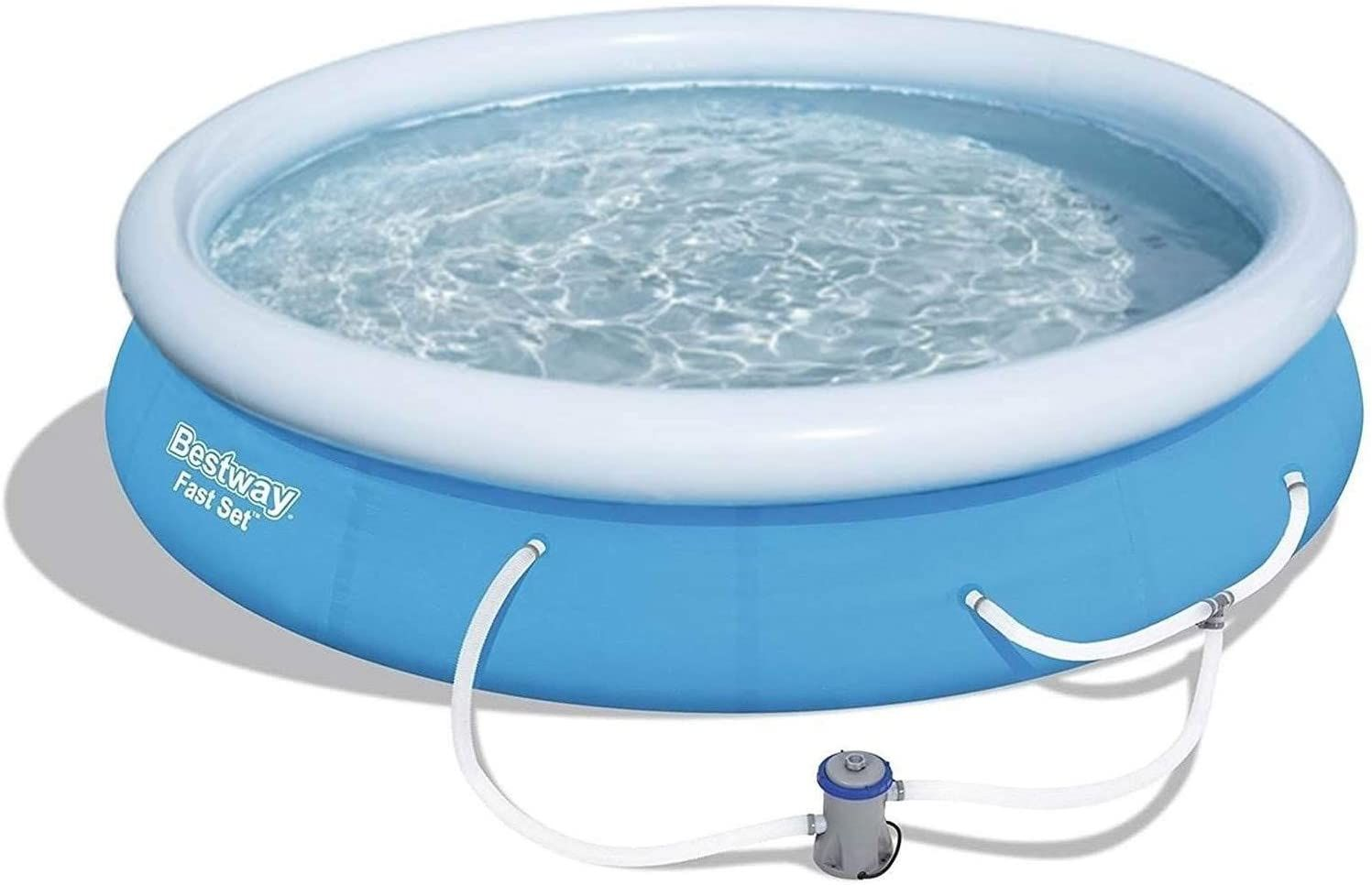 Bestway 12ft X 30in Fast Set Up Inflatable Above Ground Pool W Filter Pump Portable Swimming Pools Inflatable Pool Inflatable Swimming Pool