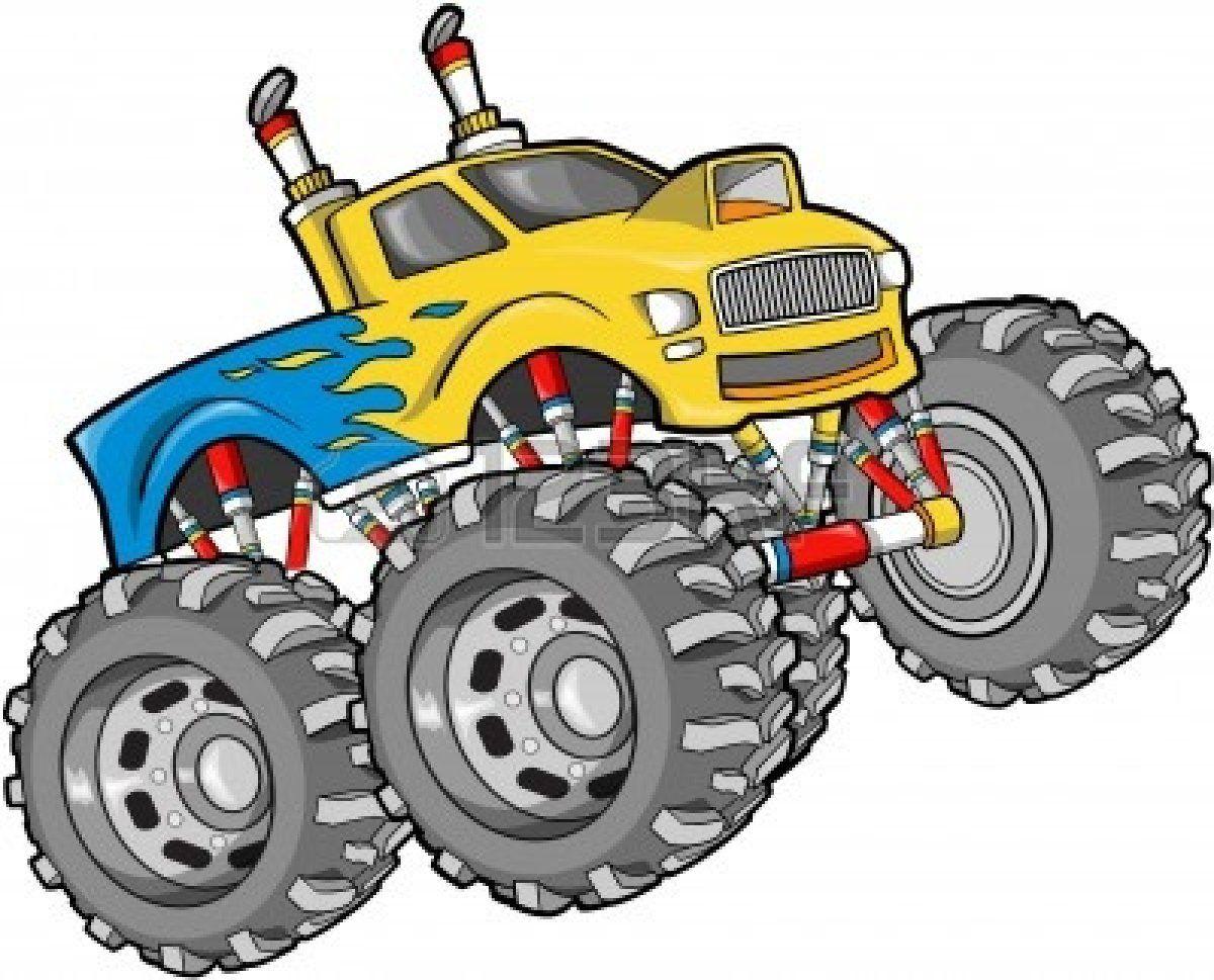 Monster Truck Vector Illustration Monster Trucks Monster Truck Drawing Big Trucks