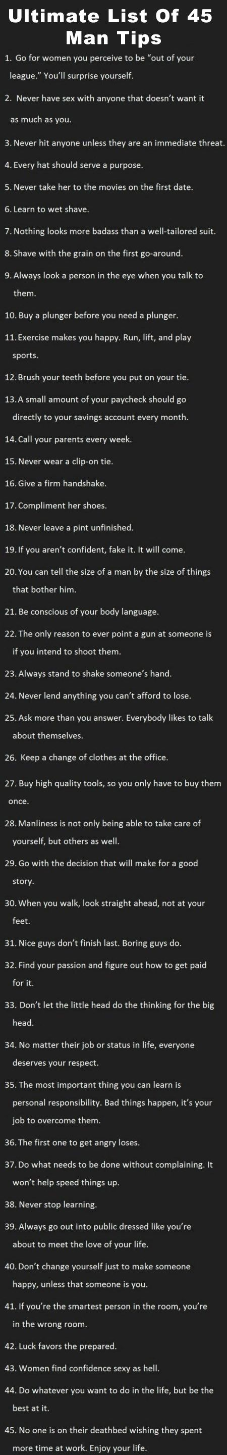 Ultimate-List-Of-45-Man-Tips (I'm a woman, and even I'm impressed with this list!)
