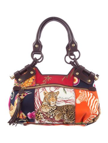 9b14d008e7 Salvatore Ferragamo Fiera Print Handle Bag
