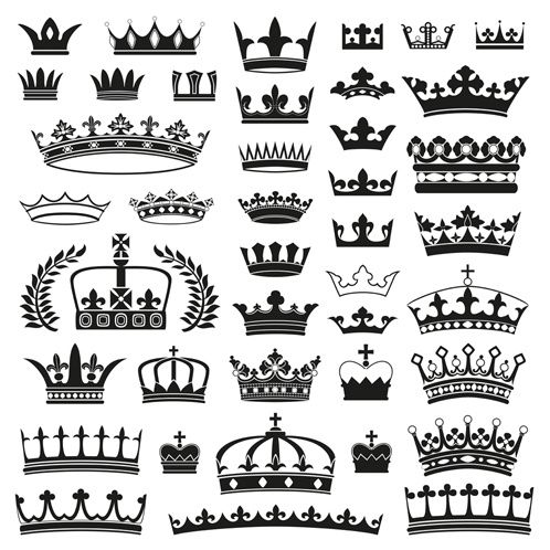 Crown Creative Silhouettes Set Jewelry How To Pinterest Crown