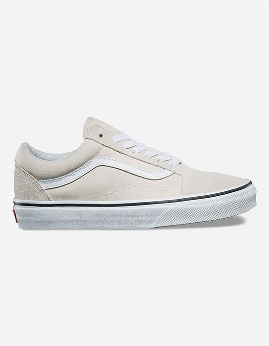 VANS Old Skool Silver Lining & True White Womens Shoes