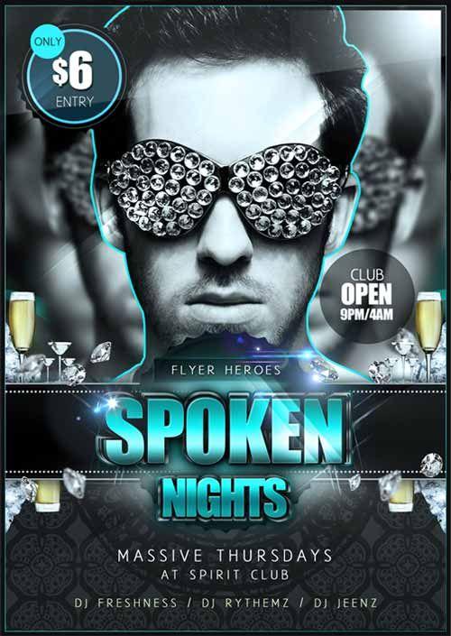 Spoken Nights Free Flyer Template Httpffflyerspoken Nights