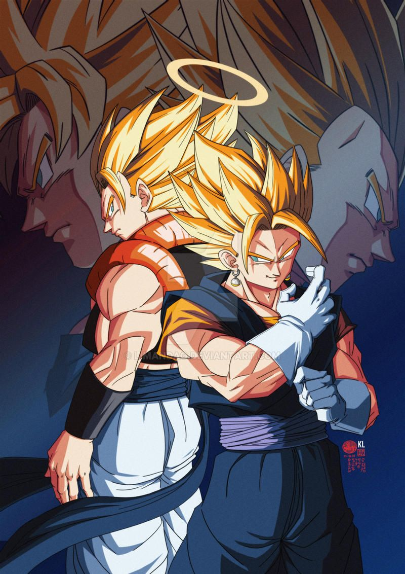 The golden duo GOGETA x VEGETTO by limandao on DeviantArt