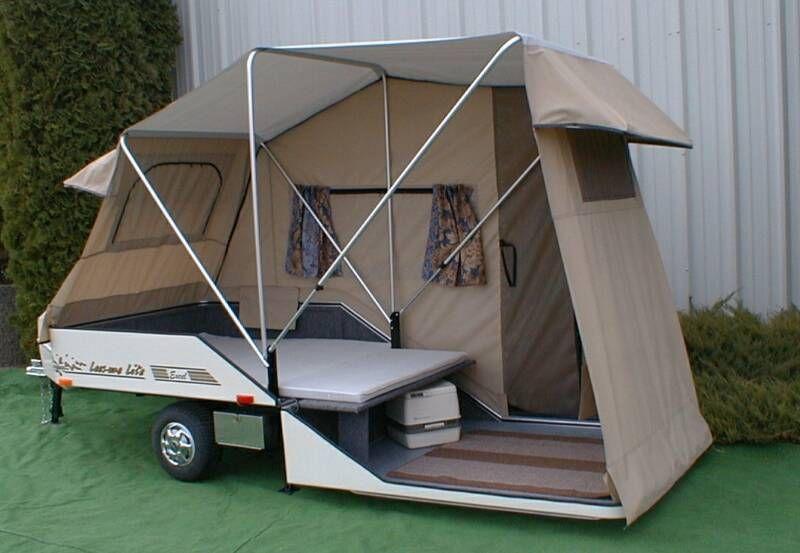 Tent Camper Trailer Motorcycle Campers Pop Up Tent Trailer