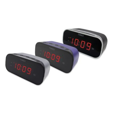 Timex Alarm Clock With 1 7 Inch Red