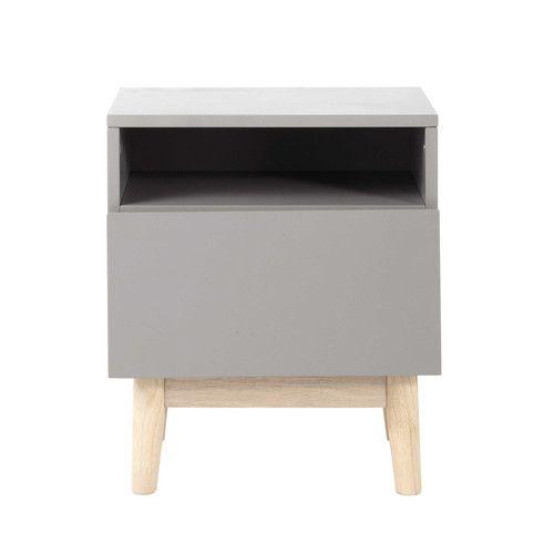 Hochwertig Nachttisch Im Vintage Stil Aus Holz Grau B 40 Cm