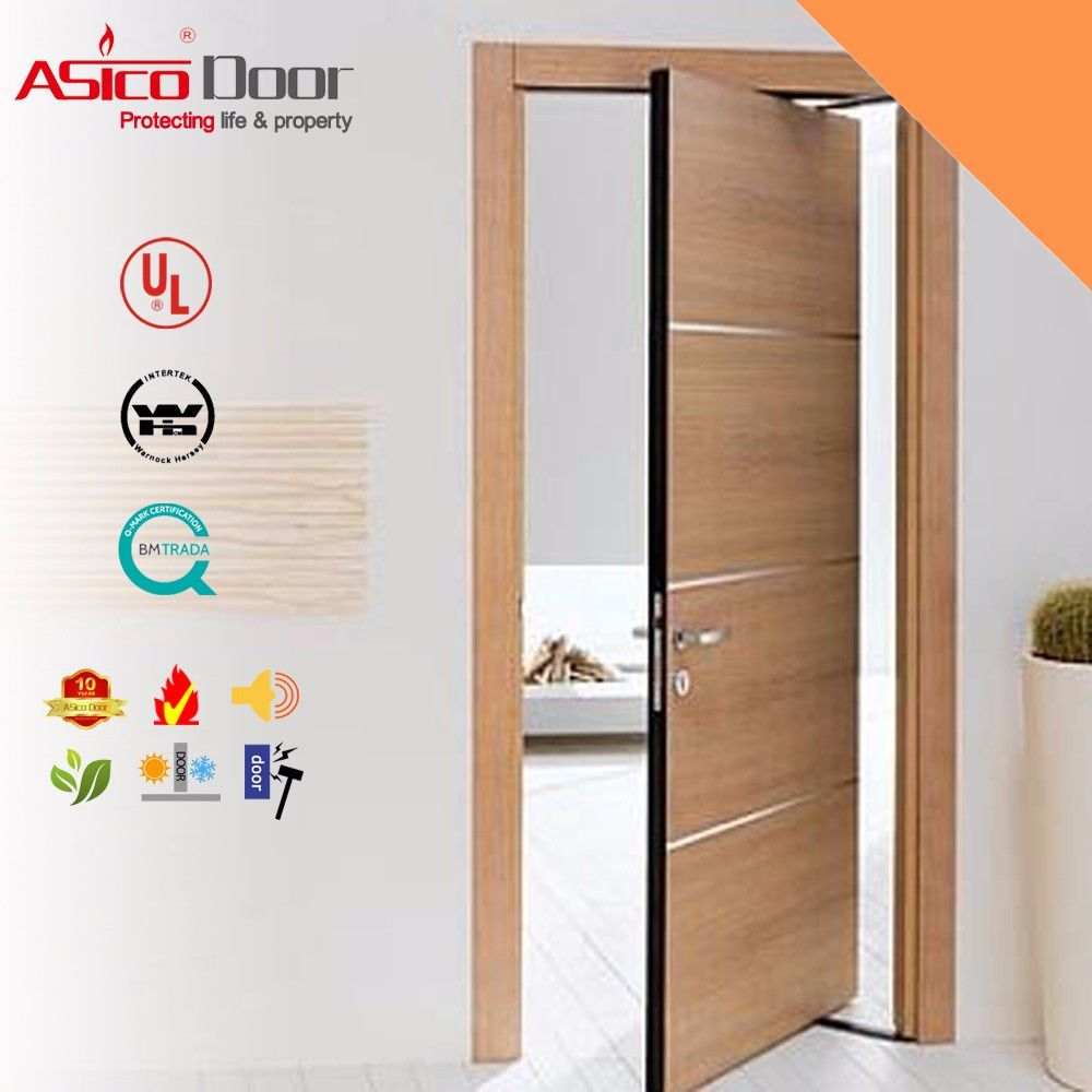 Photo of Asico Solid Wooden Fire Rated Hotel Room Door With Bm Trada , Find Complete Deta…