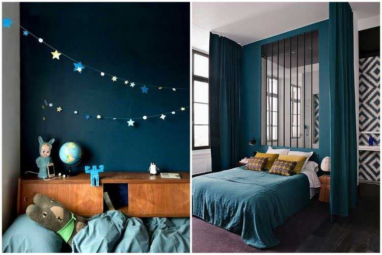bleu canard osez cette couleur dans votre d coration int rieure chambre pinterest d co. Black Bedroom Furniture Sets. Home Design Ideas