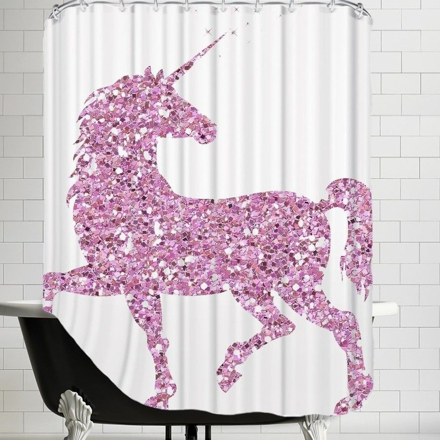 Mercury Row Nicolaus Unicorn Shower Curtain Unicorn Clothing