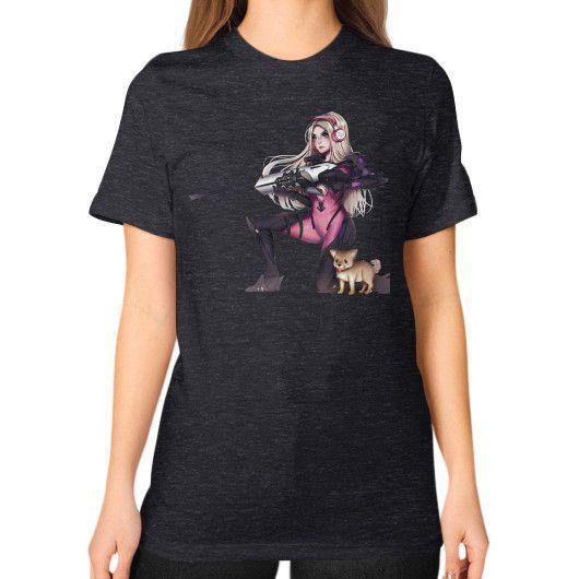 BarbieGirll Unisex T-Shirt (on woman)
